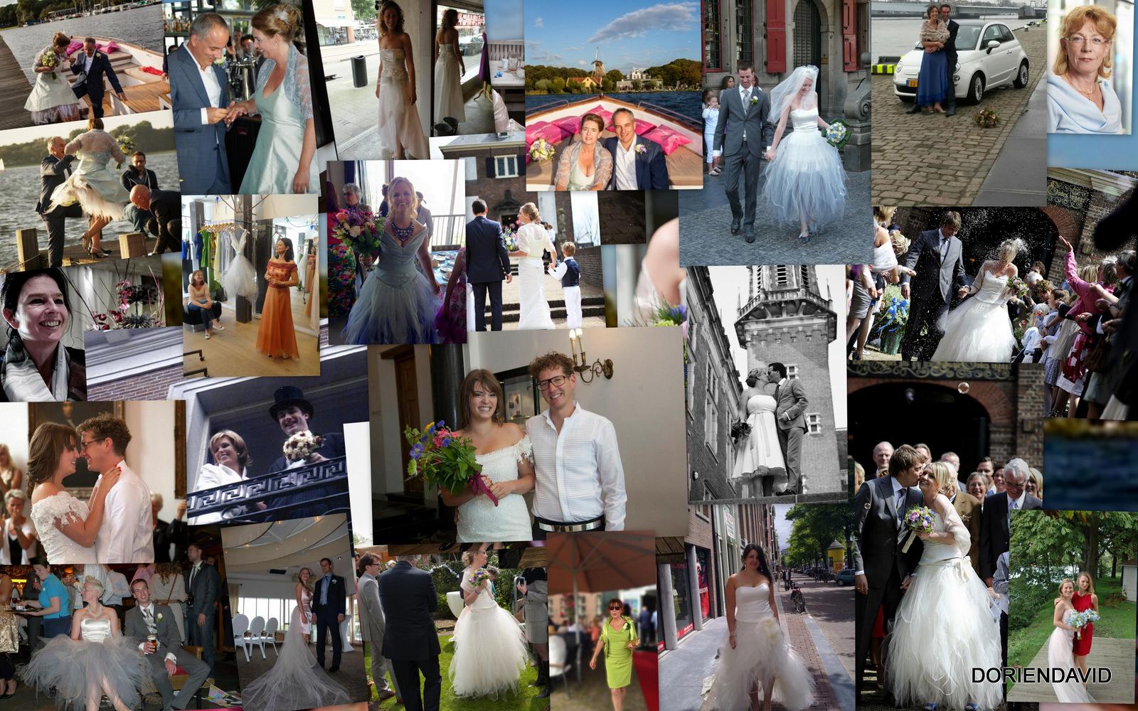 Diverse foto's van bruiden, moeders van bruiden en andere klanten