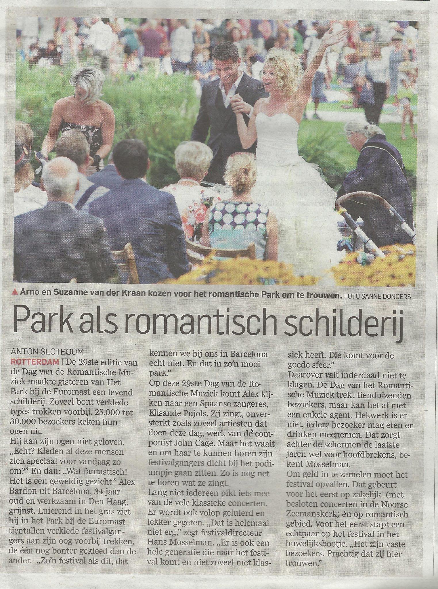 Bruid op Dag Romantische Muziek Rotterdam