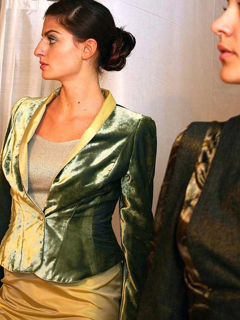 Green velvet jacket