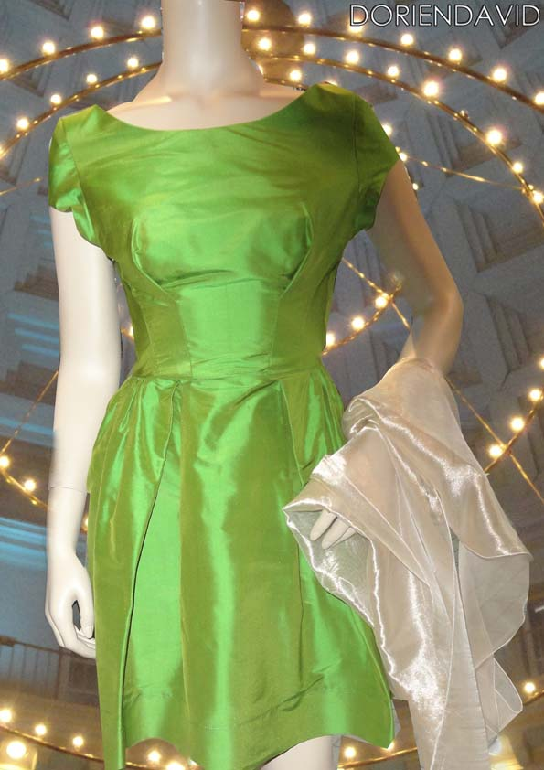 Little dress silk green
