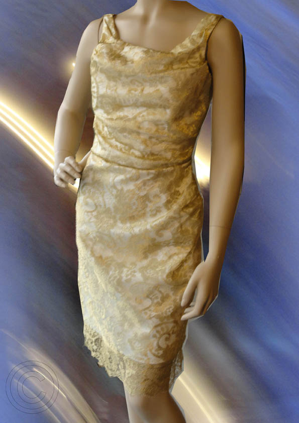 Golden lace partydress