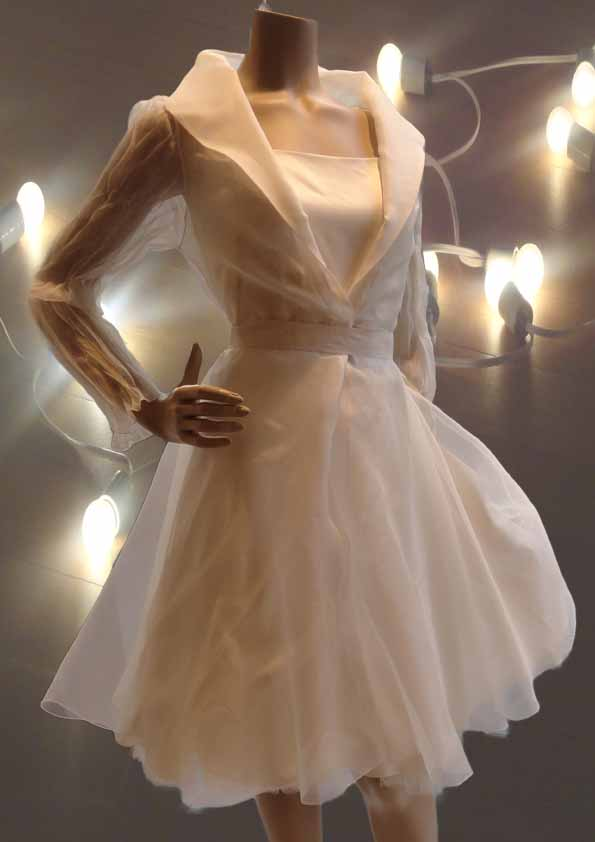 Organza silk dress with petticoat