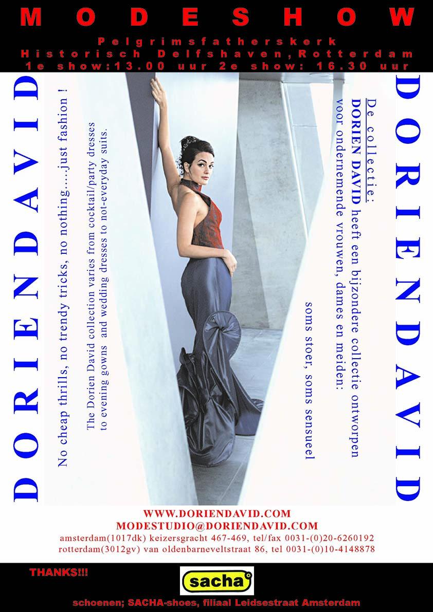 Poster Delfshaven modeshow DORIENDAVID