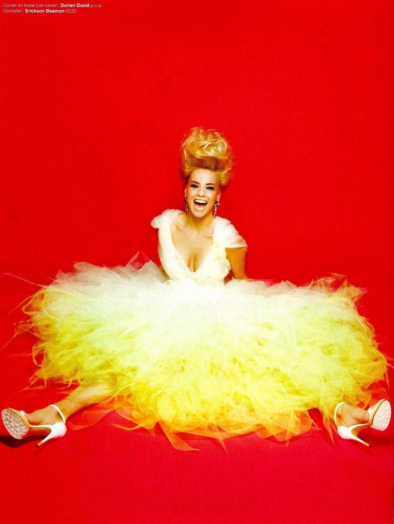 Voile petticoat jurk voor 'Talkies' magazine