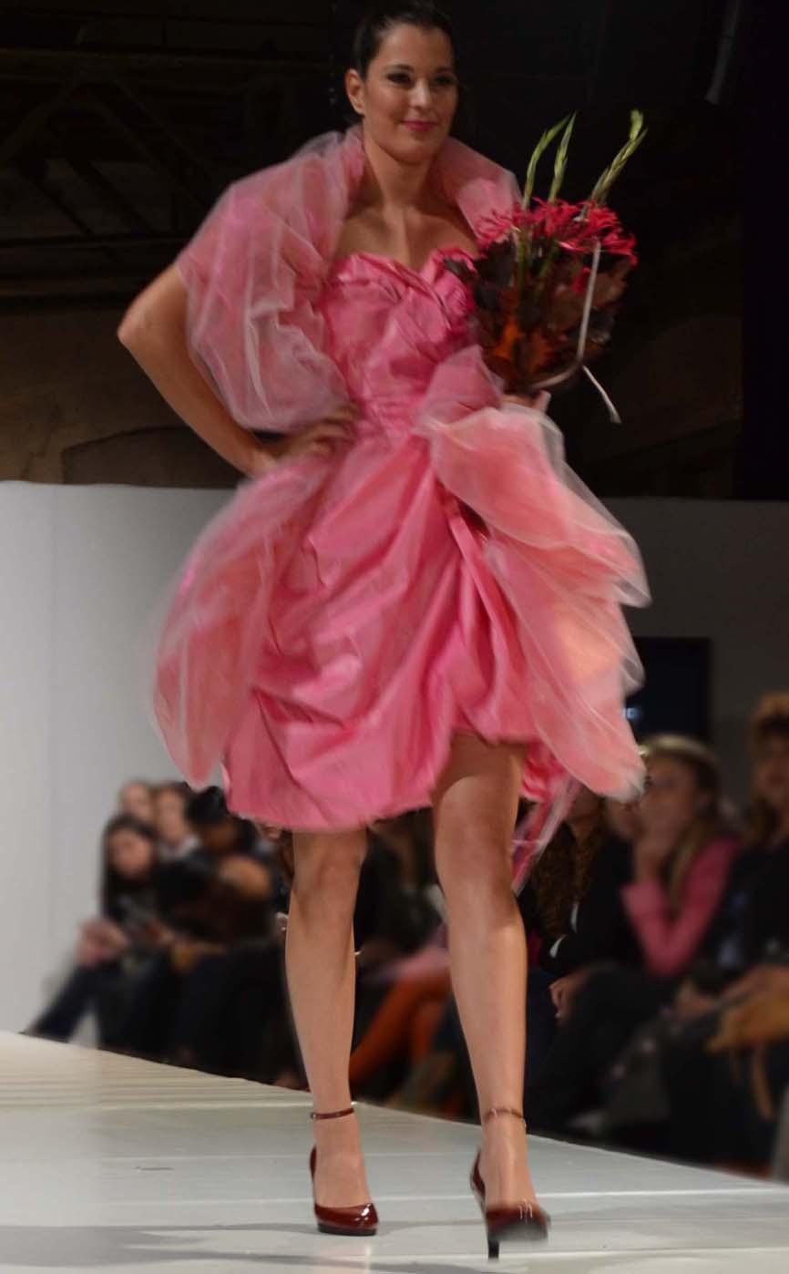 Roze jurkje en stola 'Pink Panther'