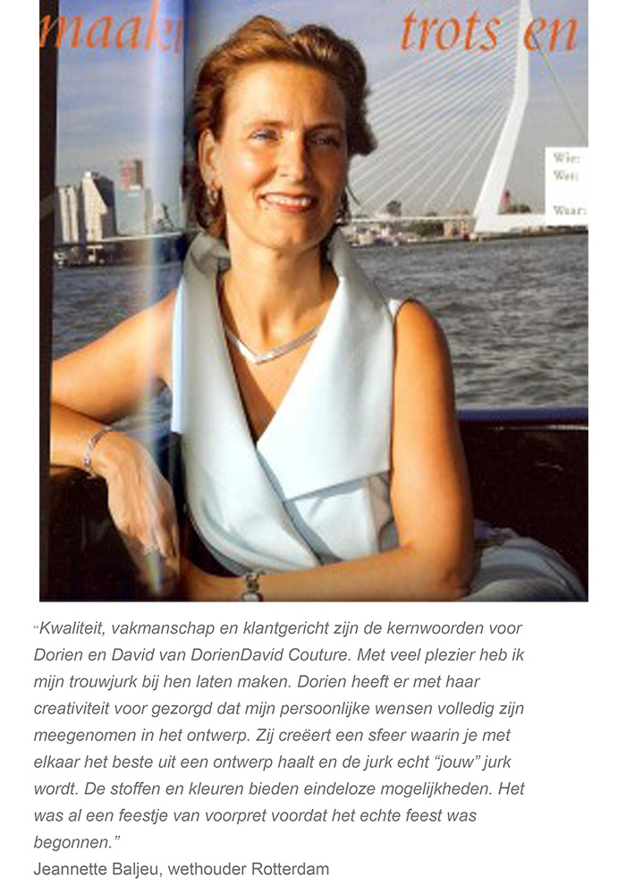 Rotterdam's alderman Jeannette Baljeu about DORIENDAVID