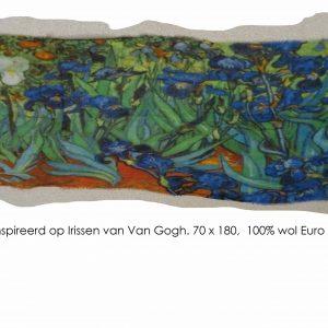 scarf Irissen van Van Gogh