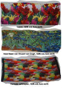 Artistieke wollen sjaals