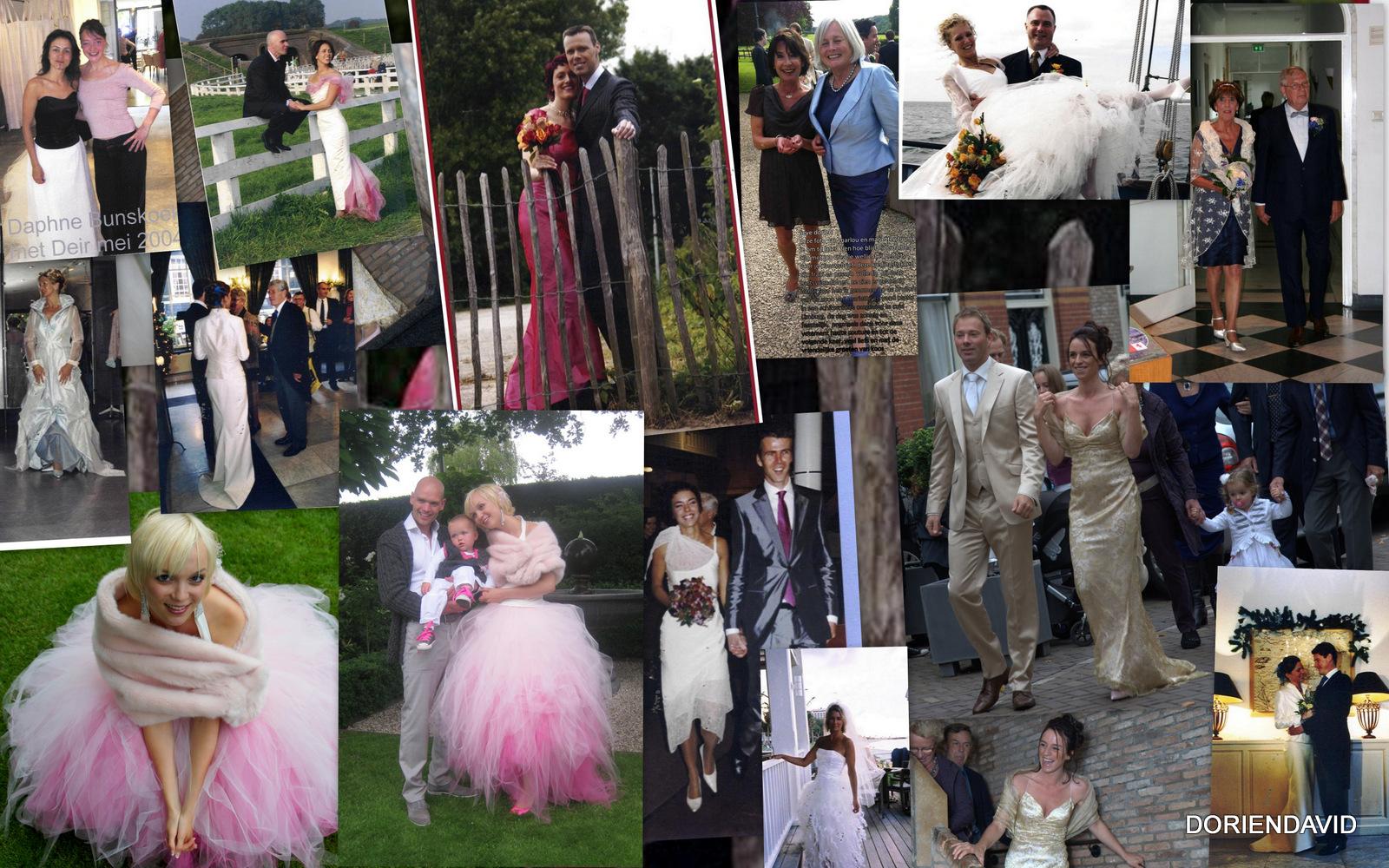 Diverse bruids- en feestjurken van klanten