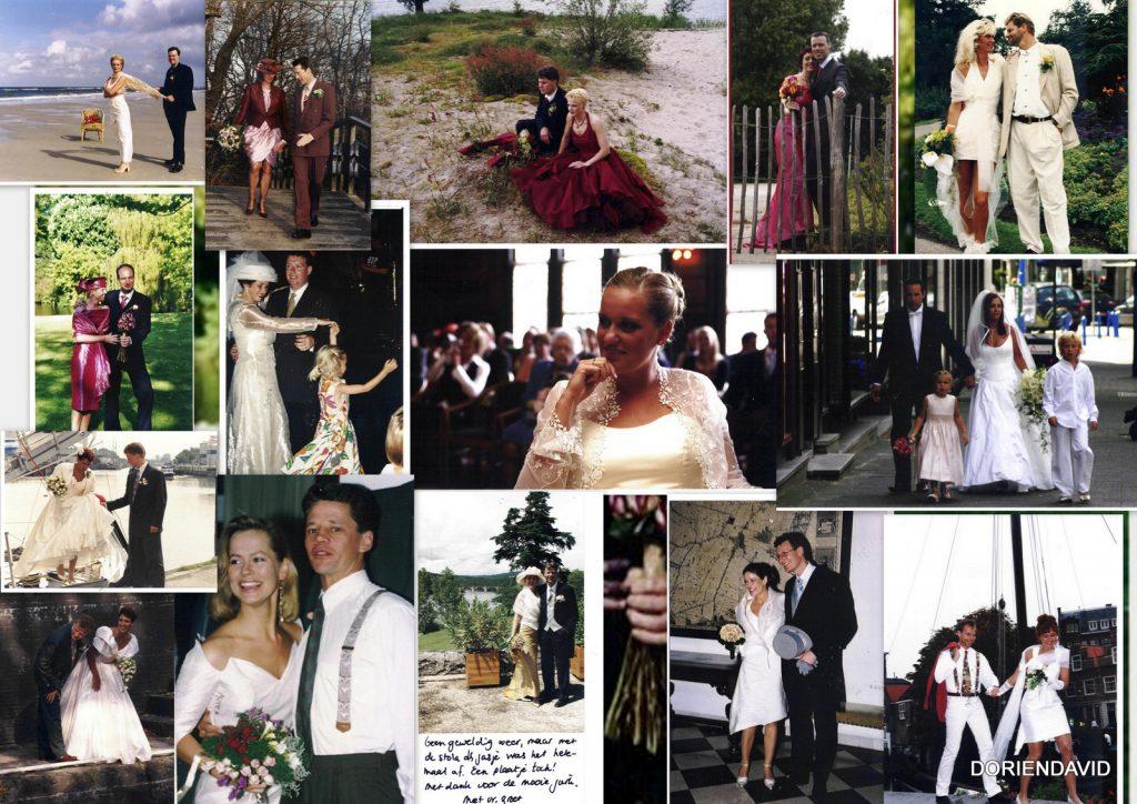 Verschillende bruiden in DORIENDAVID kleding