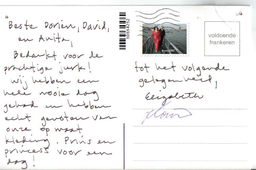 Bedank briefkaart klant
