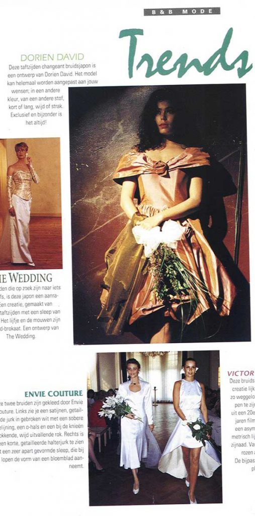 Bruid en Bruidegom, Trends