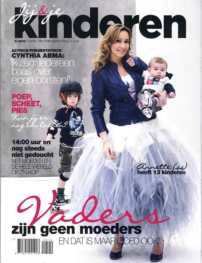 Cynthia Abma in DORIENDAVID in Kinderen magazine