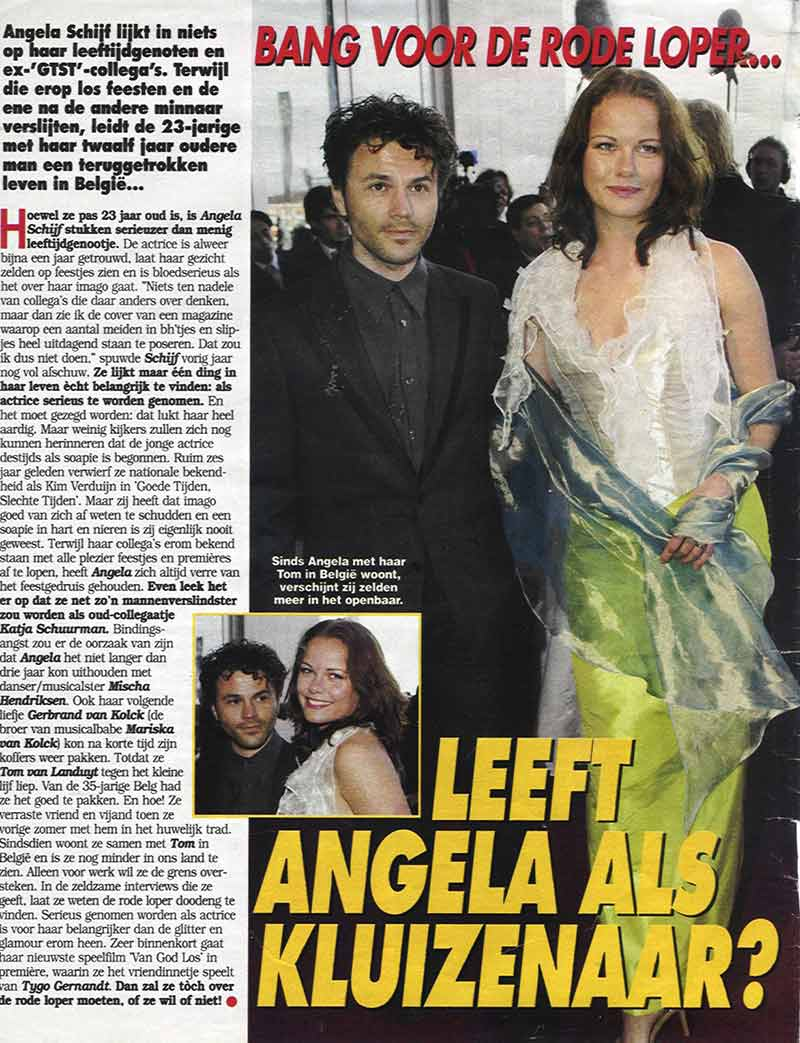 Angela Schijf in clothes of DORIENDAVID in Party magazine