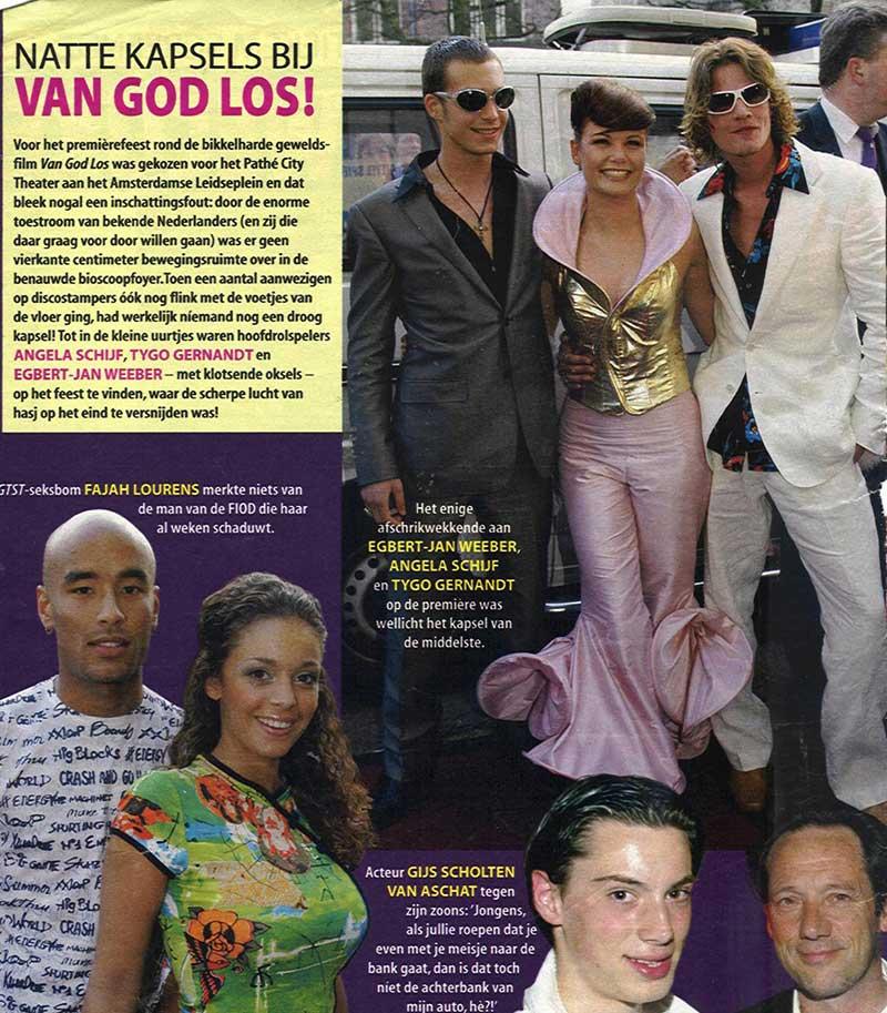 Angela Schijf bij premiere Van God los in DORIENDAVID kleding