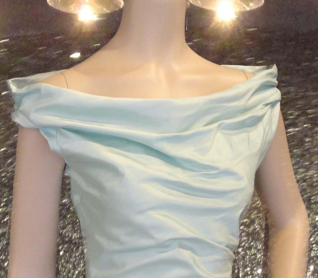 Top blue silk, model 'Alix'