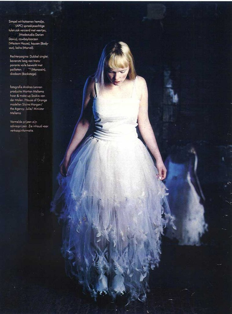 Bridal dress of DORIENDAVID in Elle magazine
