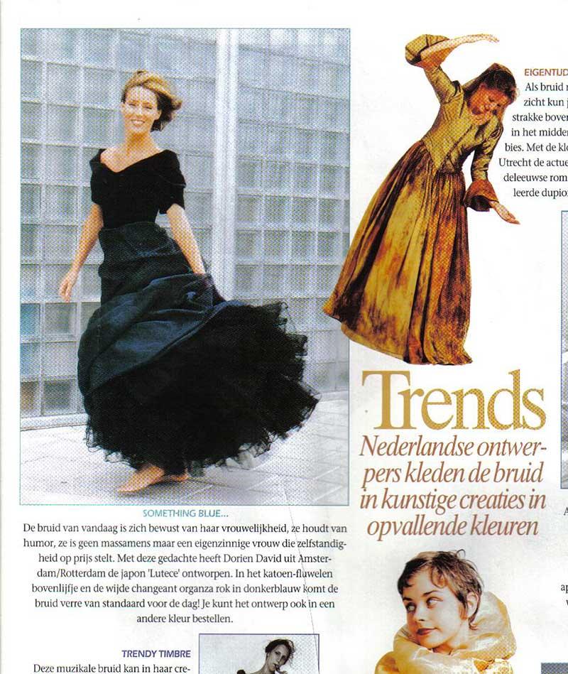 Trends in Bruid en Bruidegom magazine