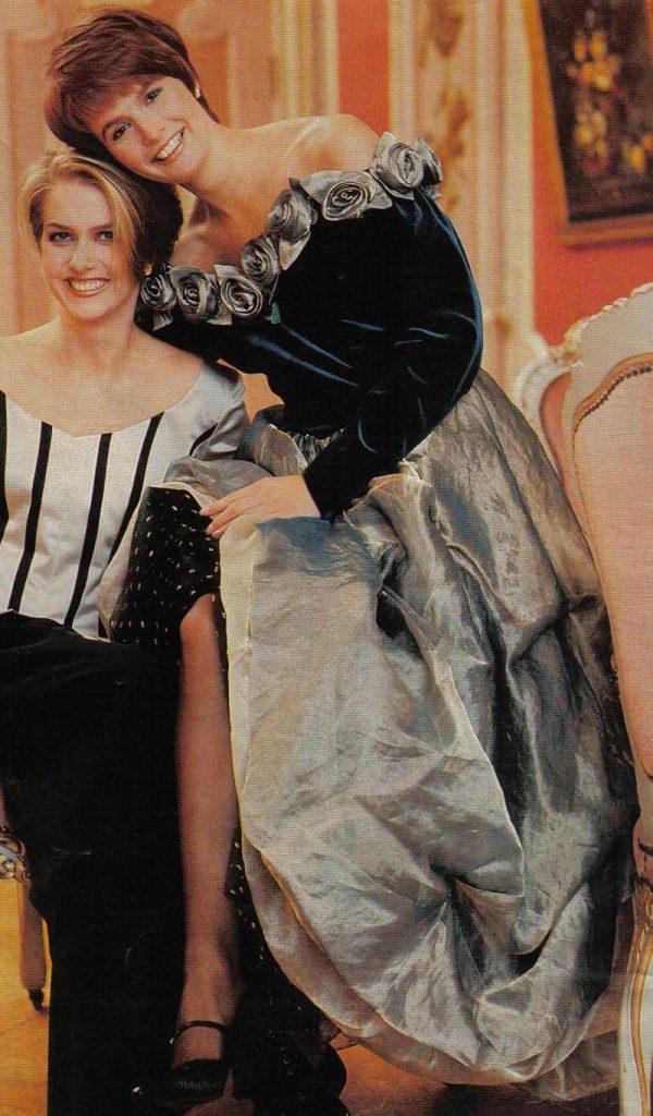 DORIENDAVID jurk met rozen, fluweel en metallic organza in Libelle magazine