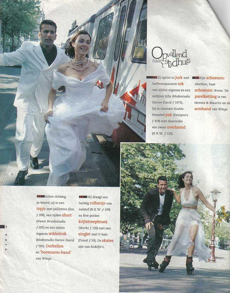 DORIENDAVID, Opvallend naar het stadhuis, in Viva magazine