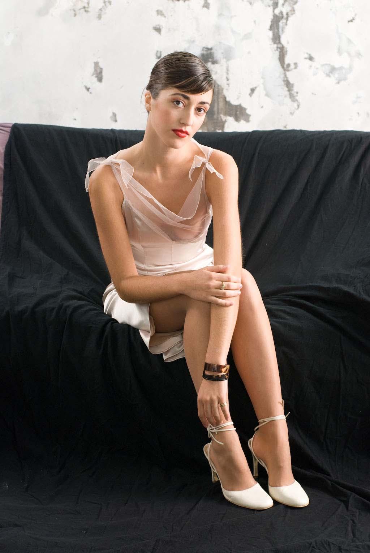 Avondjurk van voile model Graceland