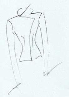 Ontwerptekening Dorien voor jasje