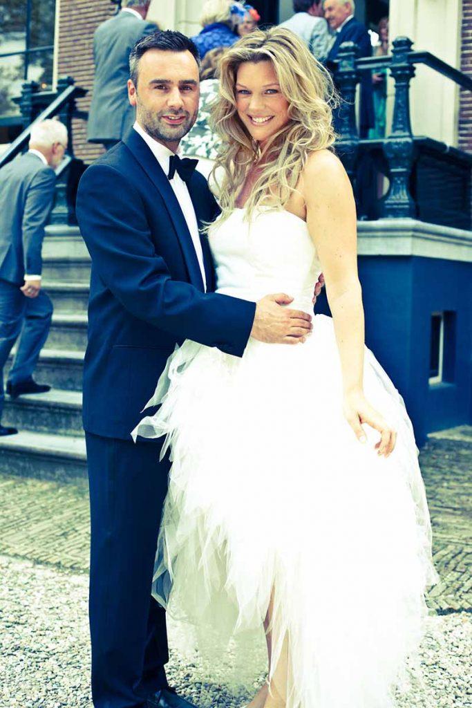 Bruid in romantisch wit