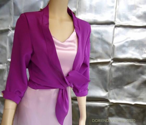 knoopjasje paarse zijde