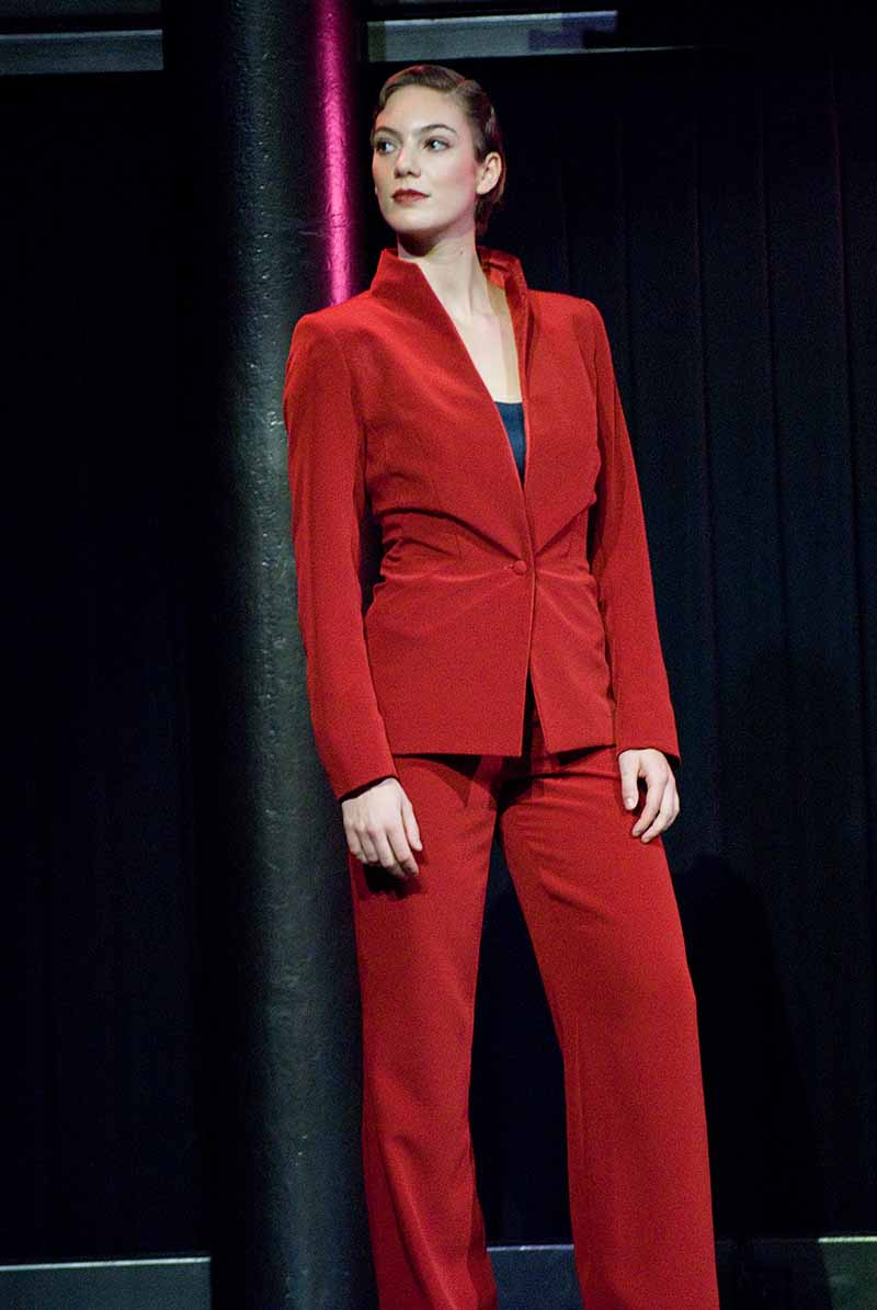 Ladies suit in red