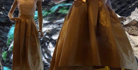Skirt of golden silk