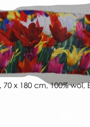 Tulip painting on scarf