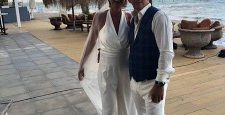 Bride and groom dressed by DORIENDAVID