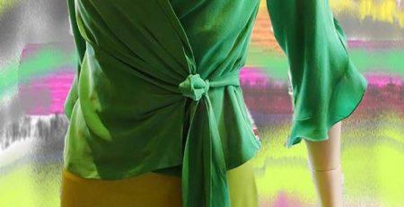 Strik blouse, zijde