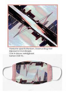Sjaal met Erasmus Brug Rotterdam
